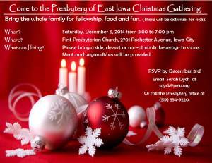Presbytery Christmas Party Invitation 2014