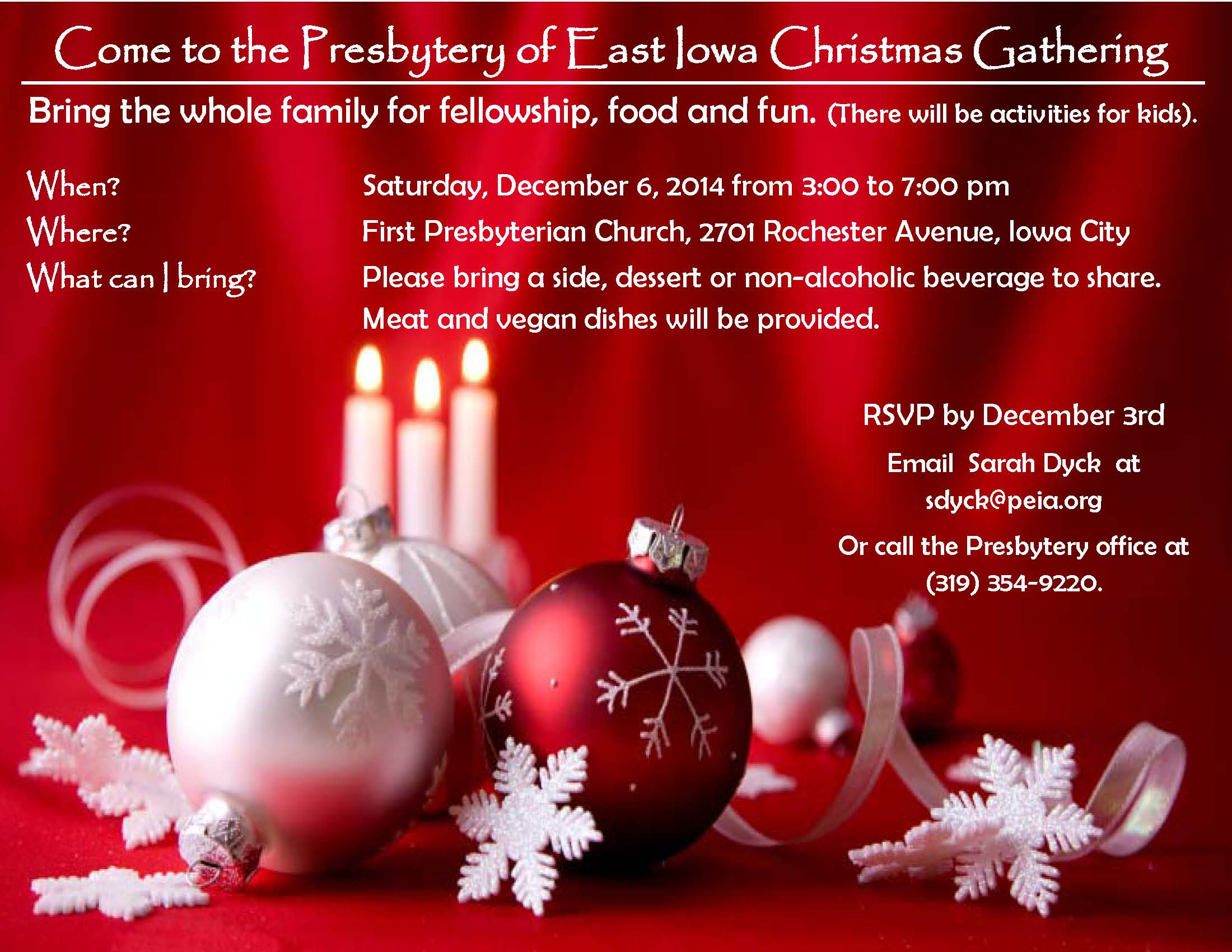 Presbytery of East Iowa Christmas Gathering-Cancelled | First ...